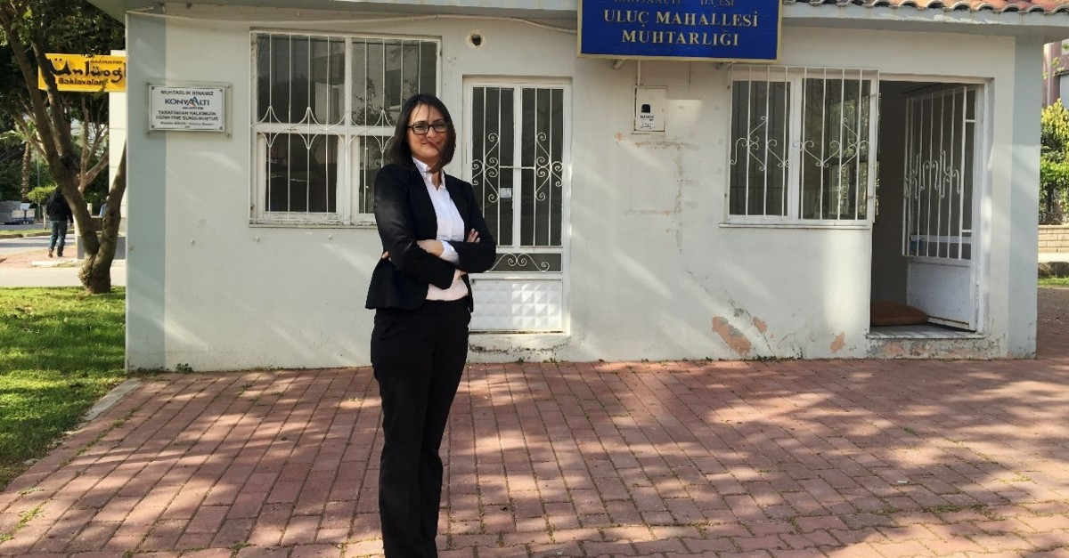 Hu00fclya Bozkurt achieved electoral success in the Uluu00e7 neighborhood of southern Antalya province, April 12, 2019.