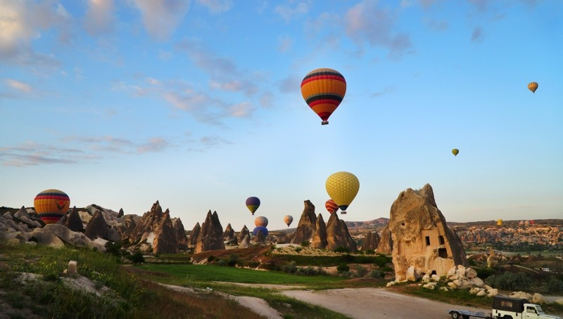 Hot-air balloons flying over Cappadocia. (File Photo)