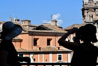 Historic church roof collapses in central Rome