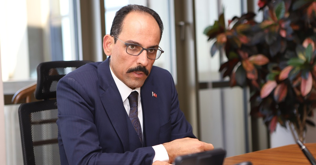 Presidential Spokesperson Ibrahim Kalu0131n speaks to Daily Sabah's Nur u00d6zkan Erbay, in Ankara, Oct. 23, 2019. (Photo: Sabah / Erman Gu00fcneu015f)