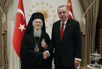 Erdoğan receives Greek Orthodox patriarch