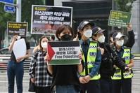وقفة تضامنية مع غزة ضد القصف الاسرائيلي، في سول، ج كوريا AP