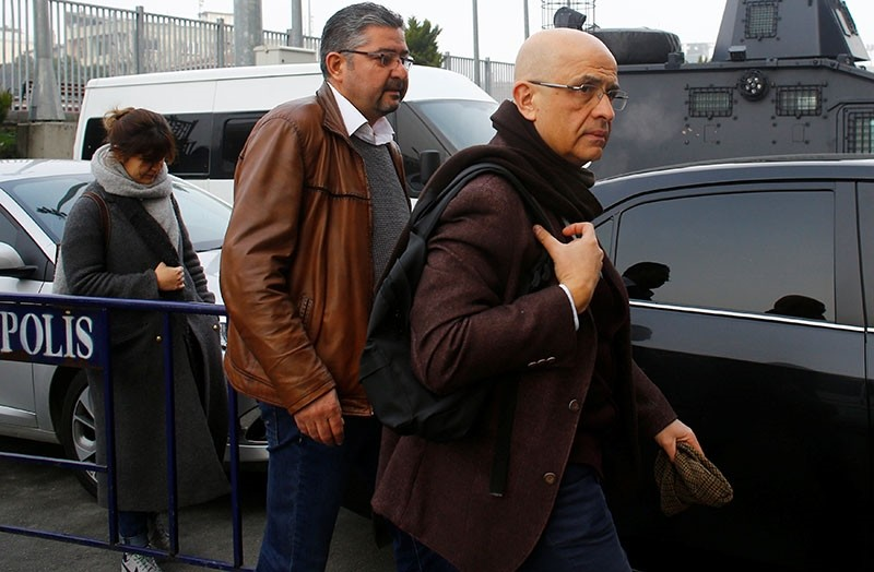 Enis Berberou011flu, a lawmaker from the main opposition Republican People's Party (CHP), arrives at the u00c7au011flayan Courthouse, to attend a trial in Istanbul, Turkey, March 1, 2017. (Reuters Photo)