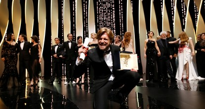 pThe Cannes Film Festival jury has awarded its coveted Palme d'Or award to Ruben Ostlund's The Square./p  pOh my god! OK, the Swedish filmmaker exclaimed after he bounded onto the stage to...