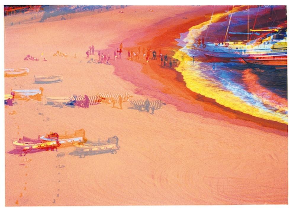 ,Triple Landing,, 2015, 60x90 cm.