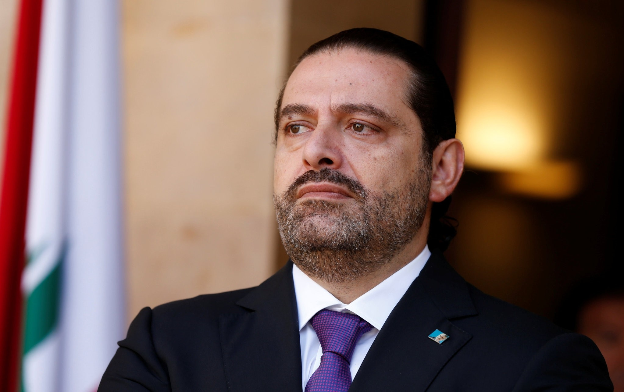 Lebanon's Prime Minister Saad al-Hariri is seen at the governmental palace in Beirut, Lebanon October 24, 2017. (REUTERS Photo)