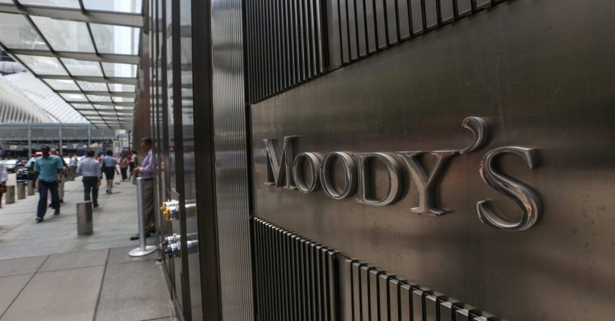 The Moody's rating agency's company headquarters in New York.