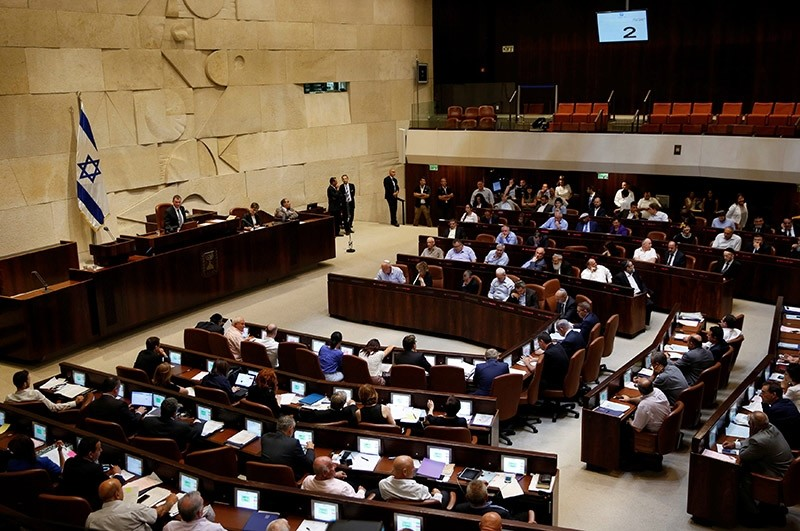 A general view shows the plenum during a session at the Knesset, the Israeli parliament, in Jerusalem July 11, 2016. (Reuters Photo)