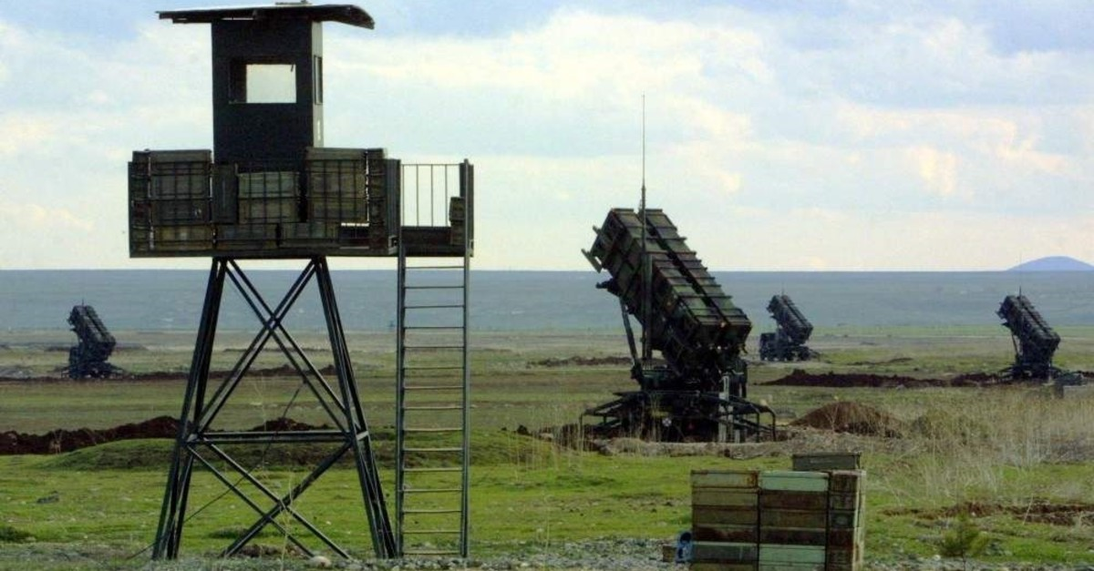 This file photo taken on March 11, 2003, shows Patriot anti-missile batteries installed at the Diyarbaku0131r military airport in southeastern Turkey. (AFP Photo)