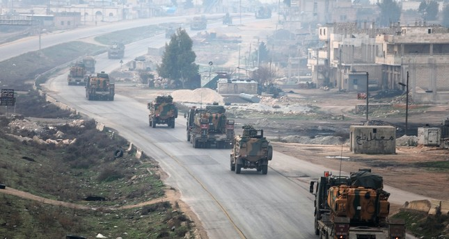 A Turkish military convoy in Idlib on Feb. 15 as part of Turkey's role in the de-escalation zones established during the Astana talks.