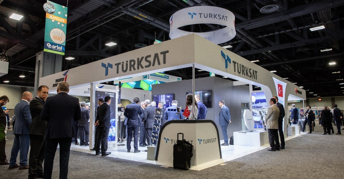 The Tu00fcrksat booth at the 2019 Satellite Conference in Washington D.C., May 6, 2019.