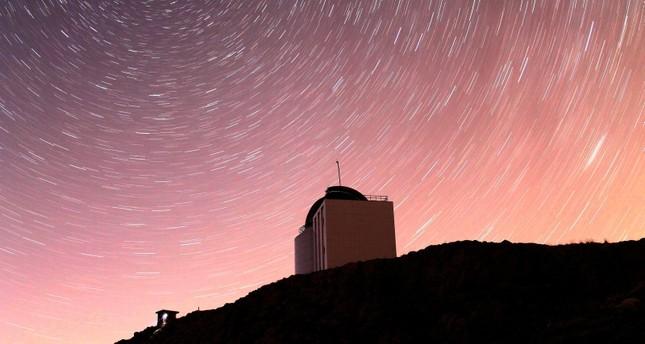 This file photo dated September 21, 2015 shows the 1.5-meter diameter RTT 150 telescope located at the TÜBİTAK National Observatory established at the 2,500-meter long Bakırlıtepe summit near Saklıkent, Antalya, southern Turkey. (AA Photo)