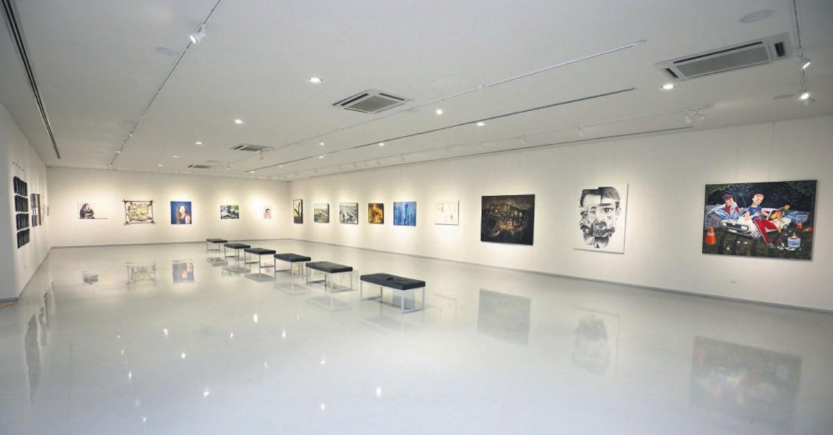 Works of fine arts students are on display at Taksim Sanat.