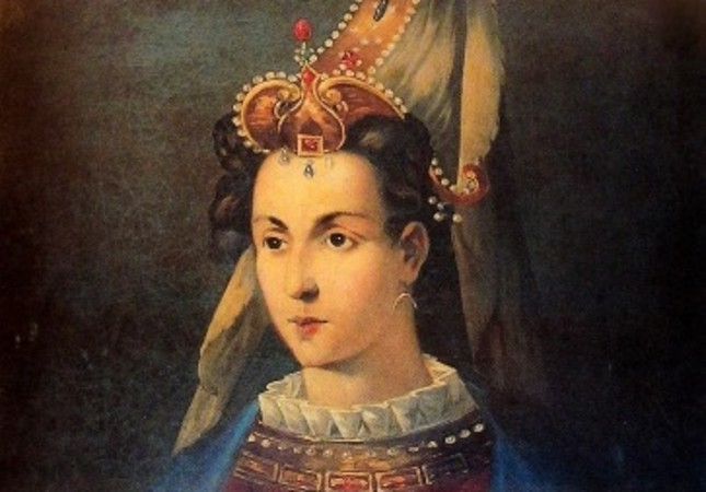 A portrait of Hürrem Sultan currently on display at Topkapı Palace Museum.