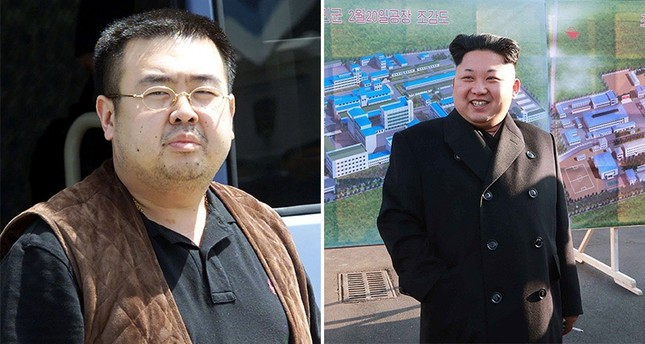 North Korean leader Kim Jong-Un (R), his half-brother Kim Jong-Nam (L)