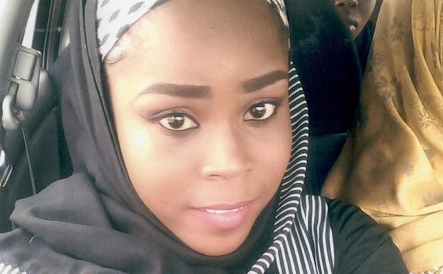 Medical worker Hauwa Mohammed Liman, who was held hostage by Boko Haram militants in Nigeria since March, is pictured in this handout photograph obtained by Reuters on October 14, 2018. Reuters Photo