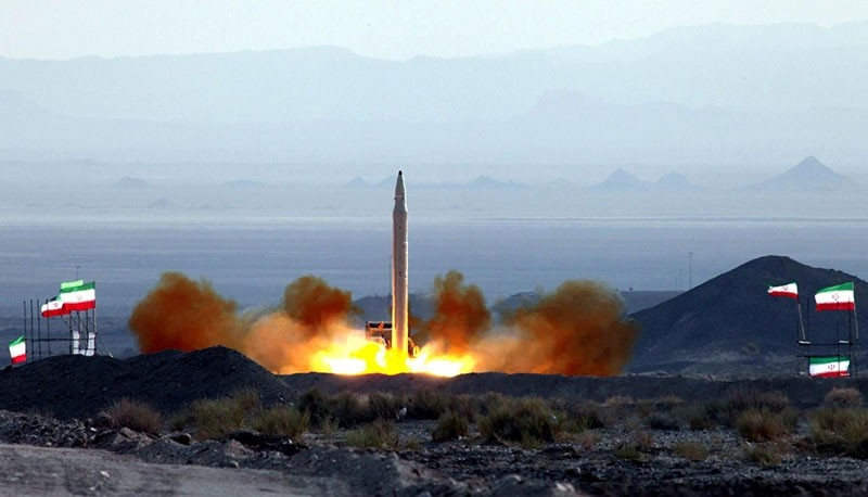 This file photo shows the new Iranian ground-to-ground missile named Qiam-1 (Uprising) lifts off at an undisclosed location in Iran on Aug. 20, 2010. (EPA Photo)