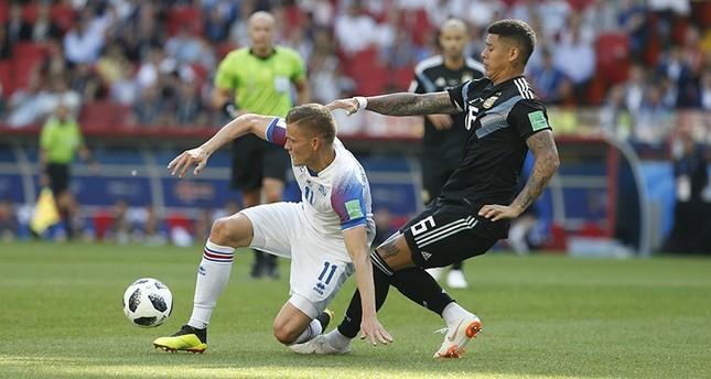 منتخب آيسلندا ينتزع نقطة ثمينة من الأرجنتين بمونديال روسيا
