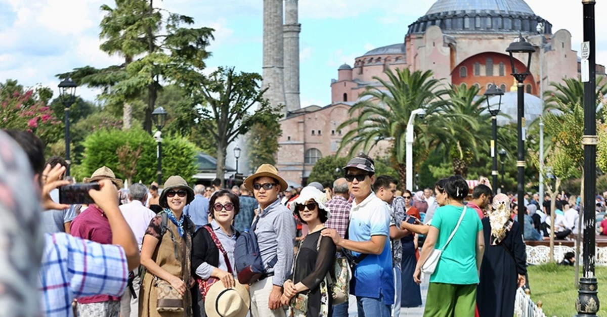 The number of international visitors to Turkey surged 14.31% year-on-year to 42.9 million in the first 11 months of 2019, according to the Culture and Tourism Ministry data. (AA Photo)