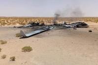 الطائرة الإيطالية المسيرة بعد سقوطها في ترهونة غربي ليبيا