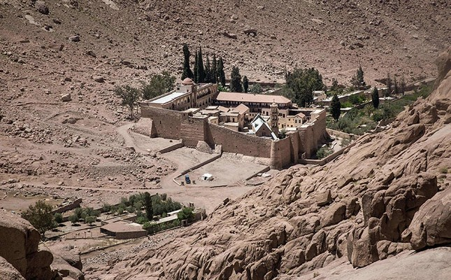 A picture taken on April 16, 2017 shows a general view of the Monastery of St. Catherine in Egypt's south Sinai, where a policeman was killed and three others wounded on April 18, 2017. (AFP Photo)