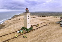 Denmark relocates 120-year-old lighthouse away from eroding coast