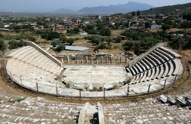 The Hellenistic theater in the Metropolis.