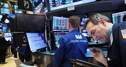 pThe euro and most stock markets surged Monday after moderate candidate Emmanuel Macron won the first round of France's presidential election and looked set to triumph in the run-off against...
