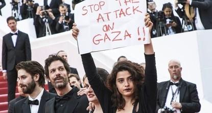 أوقفوا الهجوم ضد غزة من على السجادة الحمراء بمهرجان كان السينمائي