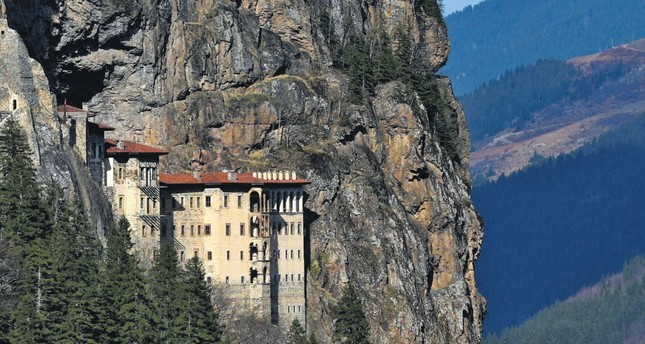 The historical Sümela Monastery located in Trabzon province is one of the most important structures for religious tourism in the world.