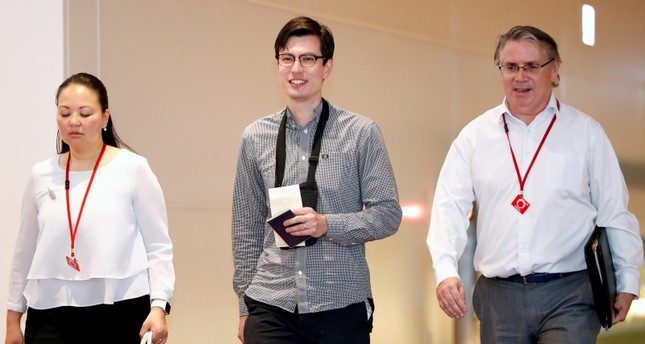 Australian student Alek Sigley, 29, who was detained in North Korea, arrives at Haneda International Airport in Tokyo, Japan July 4, 2019 (Reuters Photo)