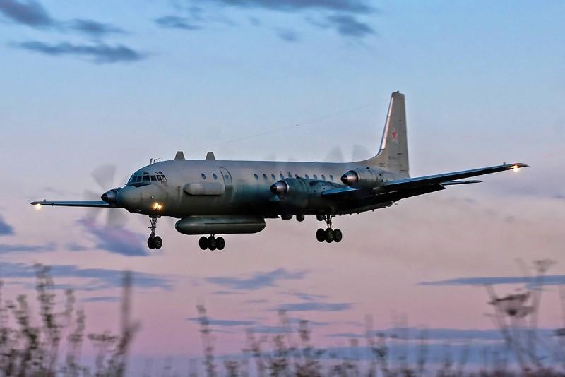 A photo taken July 23, 2006 shows an Russian IL-20M (Ilyushin 20M) plane landing at an unknown location. (AFP Photo)