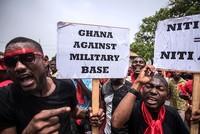 Hundreds rally against US-Ghana military partnership deal