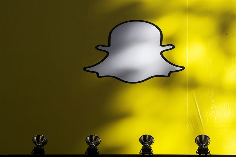 A billboard displays the logo of Snapchat above Times Square in New York. (Reuters File Photo)