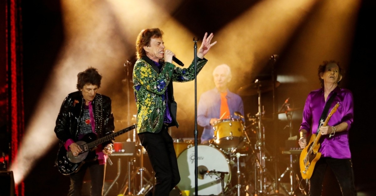 Mick Jagger of the Rolling Stones performs alongside band members Keith Richards, Charlie Watts and Ronnie Wood during their No Filter U.S. Tour at Rose Bowl Stadium in Pasadena, California, U.S., August 22, 2019. (REUTERS Photo)