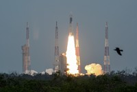 India sends unmanned mission to probe moon's far side