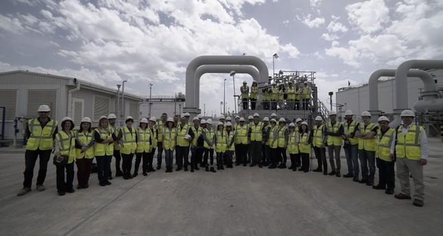 خط التاناب لنقل الغاز الأذربيجاني عبر الأراضي التركية جاهز للعمل