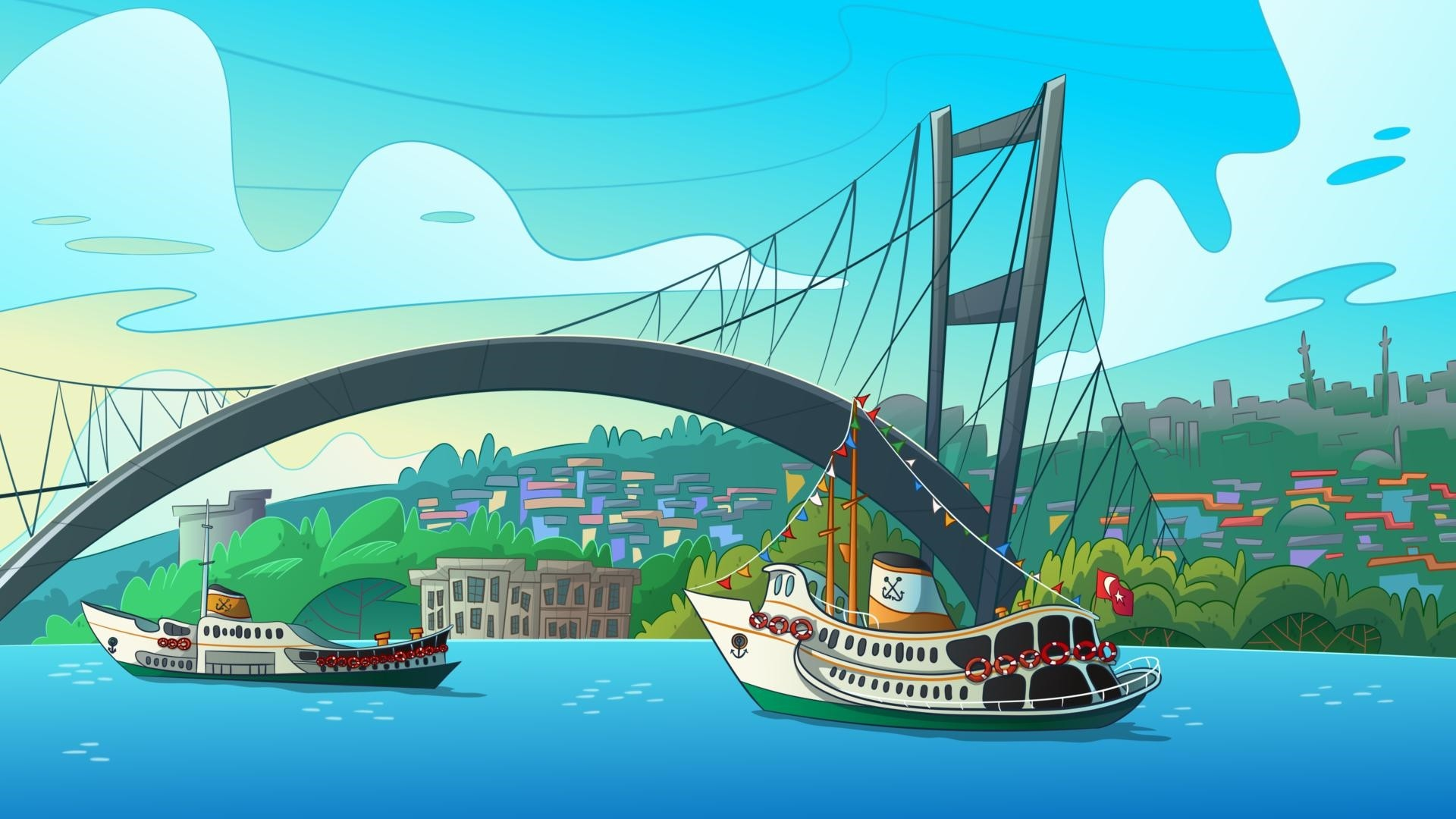 The cartoon TV series, u201cMaceracu0131 Yu00fczgeu00e7ler,u201d prepared by Erhan Korkmaz