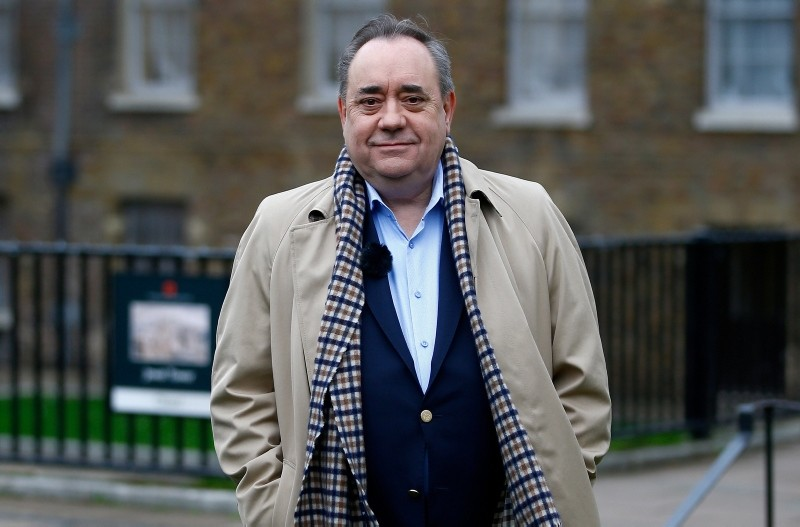 Alex Salmond, the former leader of the Scottish National Party (SNP) waits for a television interview in Westminster, London, Britain, December 18, 2018. (Reuters Photo)