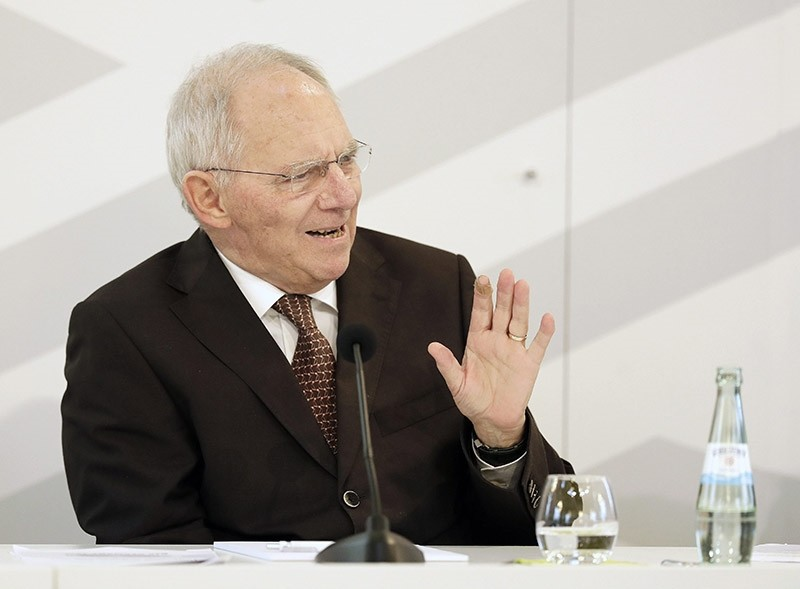 Wolfgang Schaeuble, German Federal Minister of Finance, speaks during the opening of the 'Digitising finance, financial inclusion and financial literacy' conference in Wiesbaden, Germany, 25 January 2017. (EPA Photo)