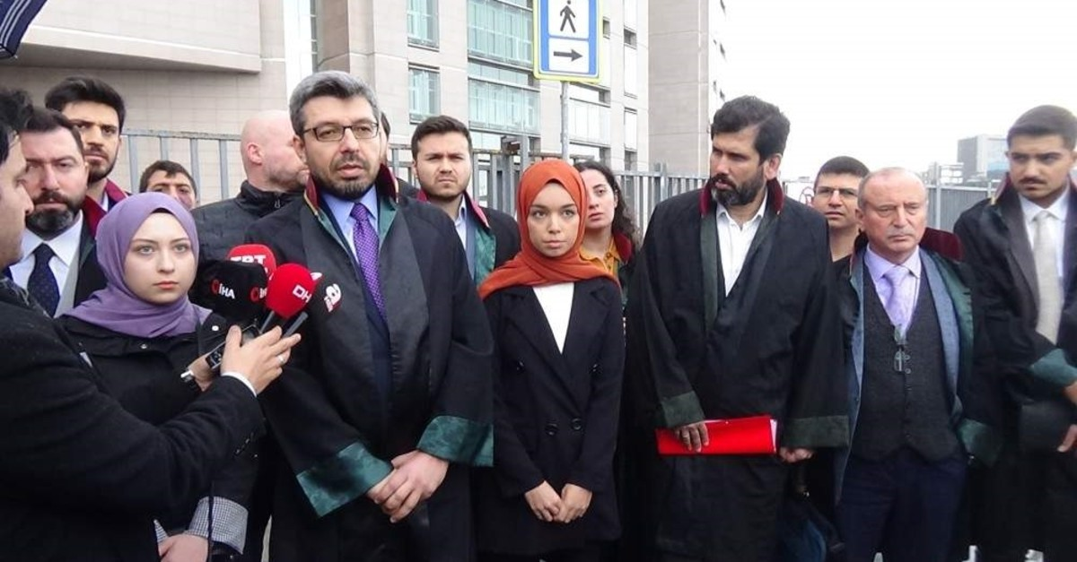Two women, accompanied by their lawyer, speak to reporters after the hearing, Dec. 26, 2019 (DHA Photo)