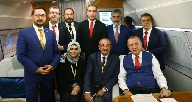 لقاء الرئيس رجب طيب أردوغان بالصحفيين على متن الطائرة الرئاسية في طريق عودته من زيارة رسمية للأردن