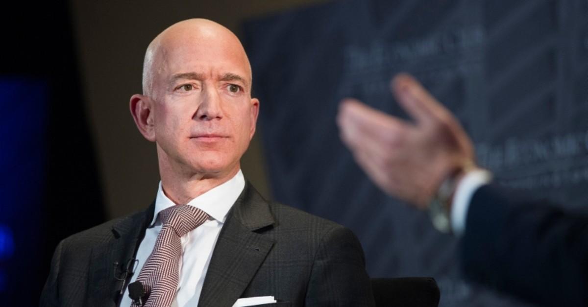 In this Sept. 13, 2018, file photo Jeff Bezos, Amazon founder and CEO, speaks at The Economic Club of Washington's Milestone Celebration in Washington. (AP Photo)