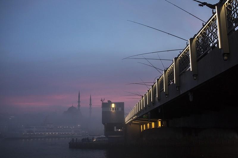 Fog coats the skies of Istanbul