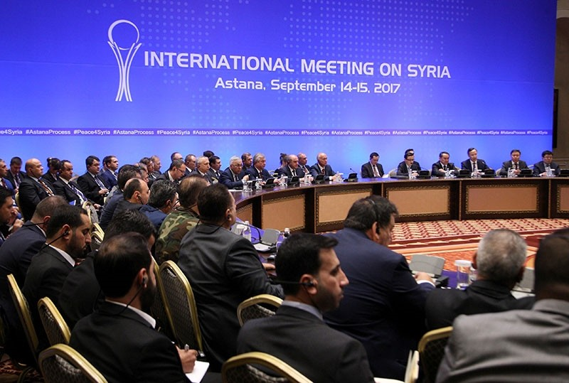 Participants attend the round of Syria peace talks in Astana, Kazakhstan, September 15, 2017. (Reuters Photo)
