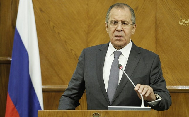 Russian Foreign Minister Sergey Lavrov speaks during a joint news conference with Jordanian Foreign Minister Ayman al-Safadi (not pictured) at the Foreign Ministry in Amman, Jordan, Sept. 11 2017. (EPA Photo)