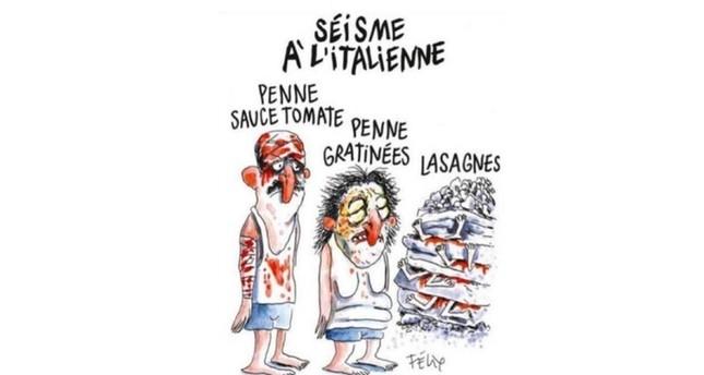 موجة غضب إثر نشر شارلي إيبدو رسماً كاريكاتوريا لضحايا زلزال إيطاليا