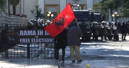 Anti-gov't protesters try to storm Albania parliament