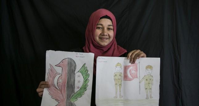 طفلة سورية ترسم مشاعرها اتجاه استقبال تركيا لها من الأرشيف