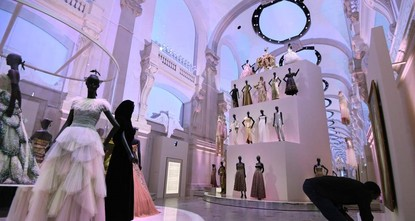 pA huge show about the fabled French fashion house Christian Dior, which opened Wednesday, has had a galaxy of stars making the pilgrimage to Paris./p